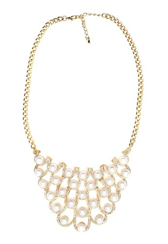 Istana Accessories Kalung Nizam Pearl Fashion Necklace-Gold
