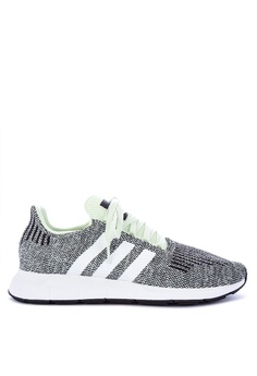 Adidas black and white and green adidas originals swift run AD678SH0KSWEPH_1