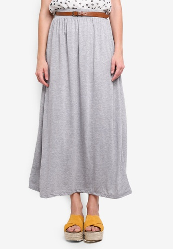 Vero Moda grey Linn Belt Ankle Skirt 067C4AAF24F957GS_1