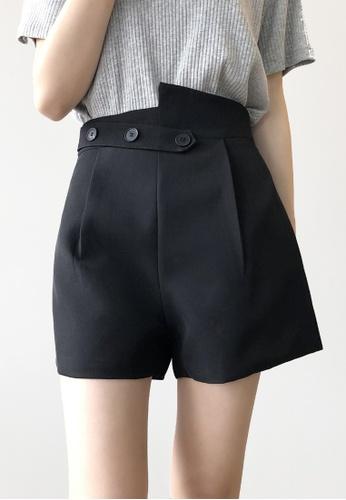 Twenty Eight Shoes black VANSA Solid Color Wide-leg Suit Shorts   VCW-St2027 F2336AA5AAE46BGS_1