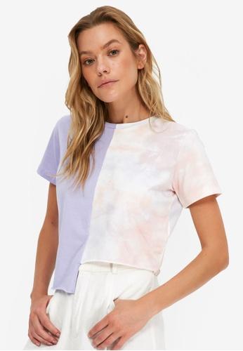 Trendyol purple Asymmetric Crop T-Shirt 383D2AAE37DEE3GS_1