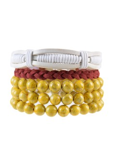 Pack of 3 Bracelets - Triple Wrap Stack