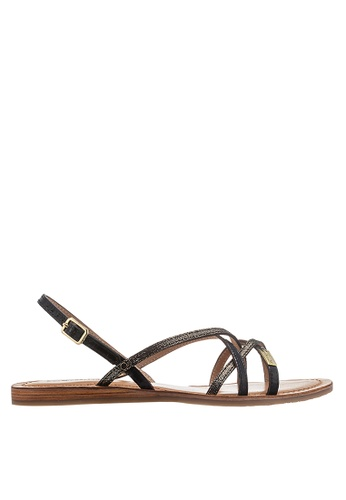 Les Tropeziennes Par M. Belarbi black Belle Black Multi Strap Leather Sandals 84CBDSHB55601CGS_1