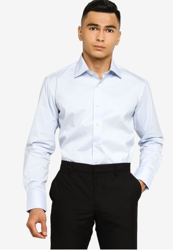 Sacoor Brothers blue Slim fit super comfort easy iron shirt 3C208AA95897F8GS_1