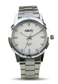 NARY Men's Stainless Quartz Watch - 6077