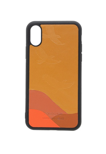 POROLUXE brown PHONE CASE FOR IPHONE X 1613BAC8771DC6GS_1