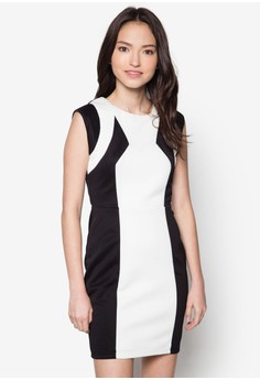 Colourblocked Fitted Dress