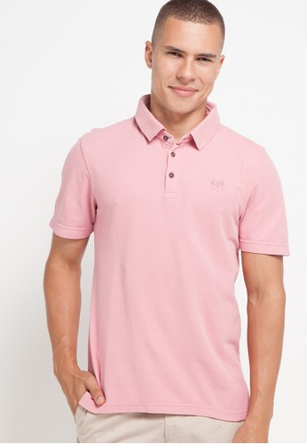 Watchout! Casual pink Short Sleeve With Collar 70E06AAD0DCE5BGS_1
