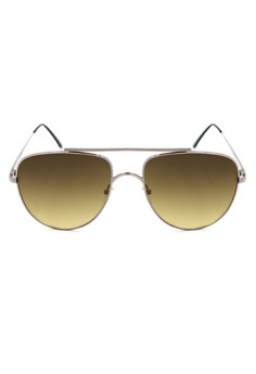 Williams Aviator Textured Brow Bar Sunglasses 8006-7-Y