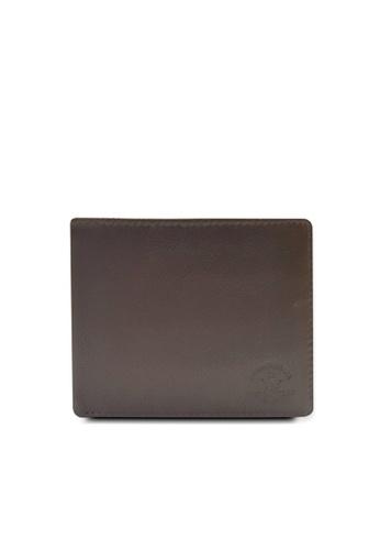 Santa Barbara Polo & Racquet Club brown Santa Barbara Polo & Racquet Club Leather Bifold Wallet with Additional Card Holders 36453AC8C8C049GS_1