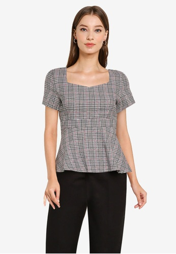 ZALORA WORK multi Sweetheart Peplum Top AFCCFAA9D78693GS_1