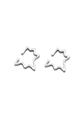LYCKA silver LDR1205 S925 Silver Minimal Spikes Clip Earrings AD6B5ACC7439B7GS_1