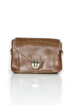 Leather Buckle Crossbody Bag