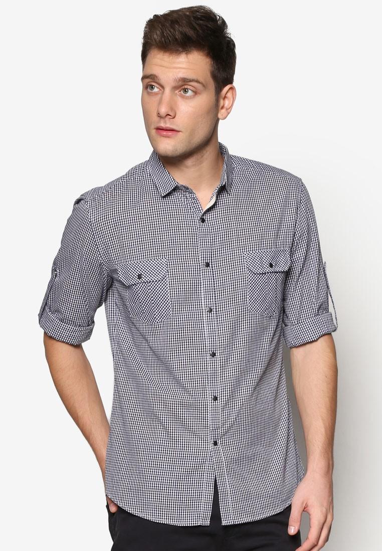 Gingham Checked Long Sleeve Shirt