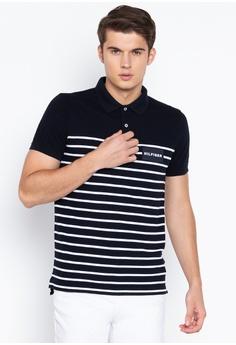 1c36e0810 Tommy Hilfiger black and white Eng Breton Stripe Slim Polo Shirt  E63EAAAE05BD0EGS_1