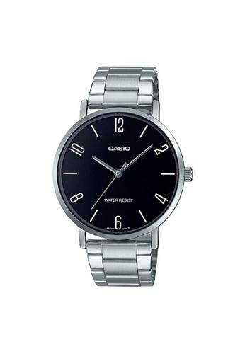 Casio silver CASIO GENERAL MTP VT01D-1B2UDF WOMEN'S WATCH 243BBAC54E7685GS_1