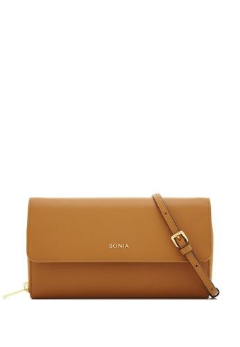BONIA brown Choccy Bikki Wallet Sling 30C5AAC0A858C1GS_1