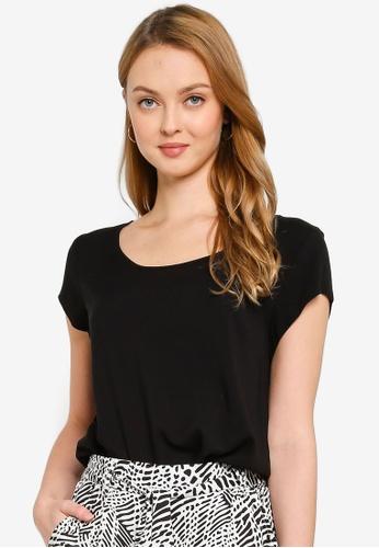 ONLY black Nova Life Short Sleeves Top 6950BAAD0E3347GS_1