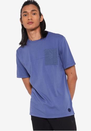 Guess blue Short Sleeve Ansli T-Shirt 8128CAA23DB3A7GS_1