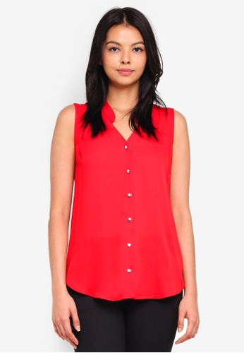 Dorothy Perkins red Red Sleeveless Shirt D59F8AA951C05FGS_1