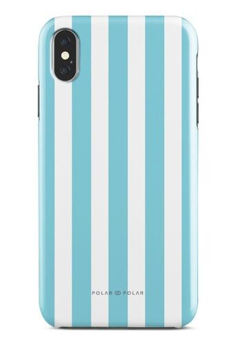 Polar Polar blue Baby Blue Stripe Dual-Layer Tough Case Glossy For iPhone XS Max 004DBAC1DFCD2EGS_1