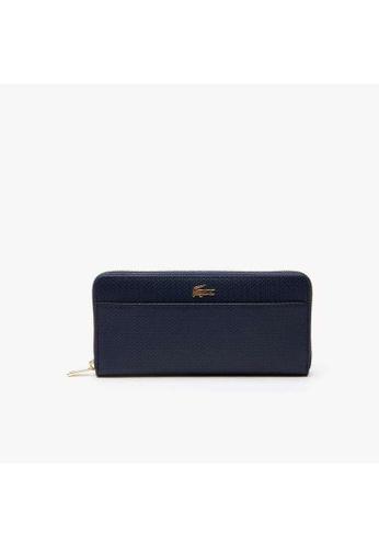 Lacoste Lacoste Women's Chantaco Bicolour Piqué Leather 12 Card Zip Wallet-NF2739CE 6DFAFAC4FA275CGS_1
