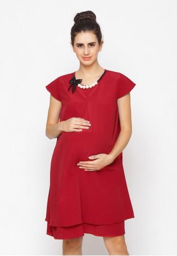 Chantilly red Yola Maternity Dress 51002 E9BC4AA01C0845GS_1