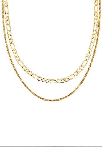 Sunnydaysweety gold 2 in 1 Multi Necklace CA030220GD 9ABEEACC5029C9GS_1