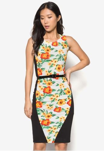 Eliza 花esprit台北門市卉拼接貼身連身裙, 服飾, 服飾
