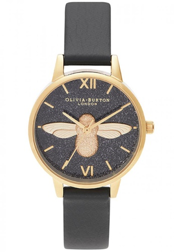 Olivia Burton black and gold Olivia Burton Glitter Dial BLACK Women's Watch (OB16GD48) 42481ACED5995AGS_1