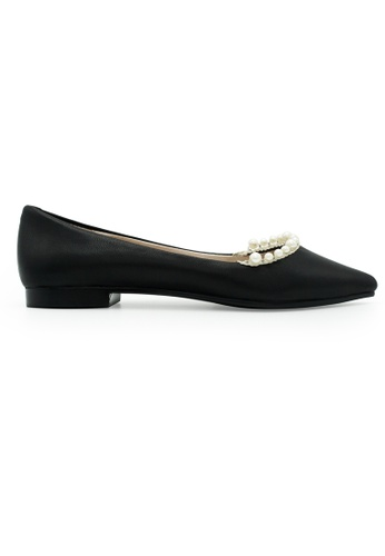 Gripz black Pointed Toe Pearls Bib Pointed Flats DED04SHF5CE2EAGS_1
