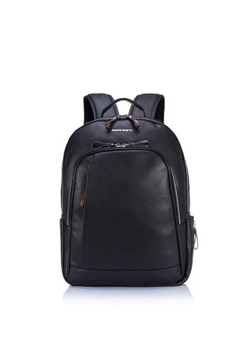 "ENZODESIGN black ENZODESIGN Buffalo Leather Multi-Pocket 15"" Laptop Backpack EN357AC0FQQ0SG_1"