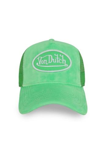 Von Dutch green Von Dutch Lime Velvet Trucker Cap 773D2AC065A2FBGS_1
