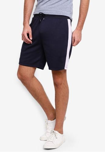 River Island 海軍藍色 條紋滾邊短褲 3C111AACBF4583GS_1