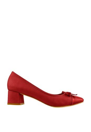 CO BLANC red CO BLANC Toe Cap Pump Heels with Ribbons ADFCBSHF4902B6GS_1