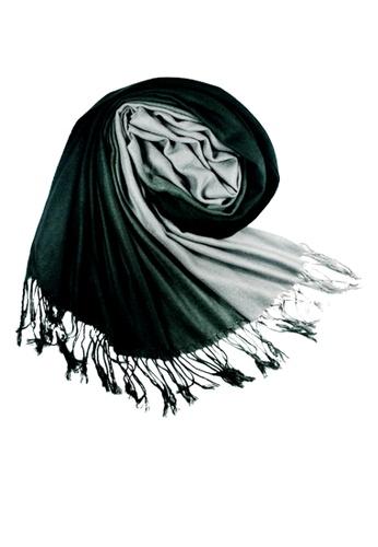 SHINE black Gradient  Pashmina SH554AC06JKFSG_1