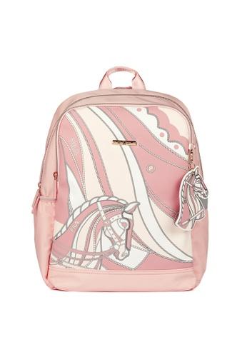 FILA pink FILA KIDS Theme Printed Backpacks F4A34KC626AF9BGS_1
