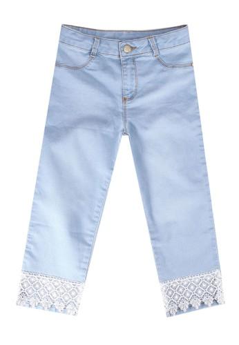 LC Waikiki blue Girls Crochet Capri Jeans 6E255KABDAC16FGS_1