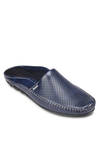 Italy 系列esprit台灣outlet沖孔懶人拖鞋, 鞋, 懶人鞋