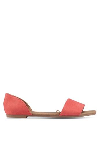 Rubi 紅色 魚口平底涼鞋 C702FSHD23B598GS_1