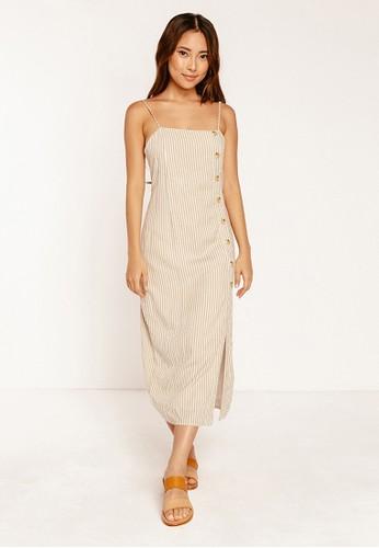 BAMBOO BLONDE beige Good Vibes Midi Dress 29098AAAE4C202GS_1