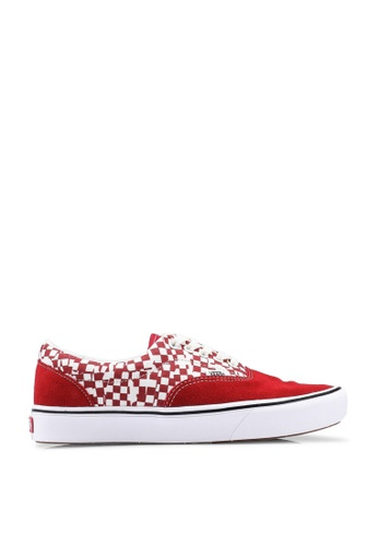 VANS red ComfyCush Era Tear Check Sneakers 5F80BSH15953BDGS_1