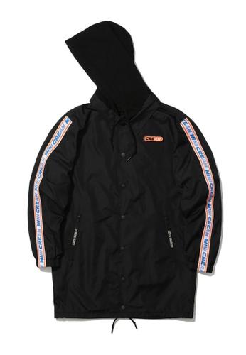 Mini cream black Logo tape windbreaker jacket B0CEAAA5A25BFBGS_1