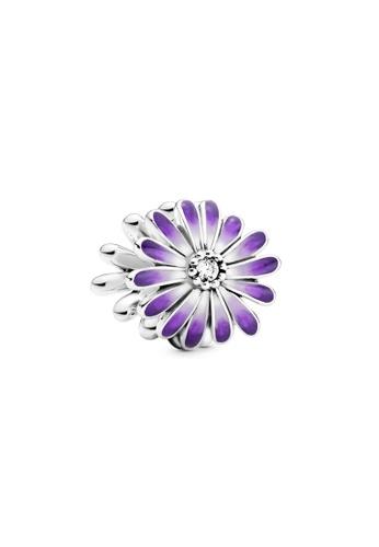 Pandora purple Purple Daisy Charm FEC49ACE00241CGS_1