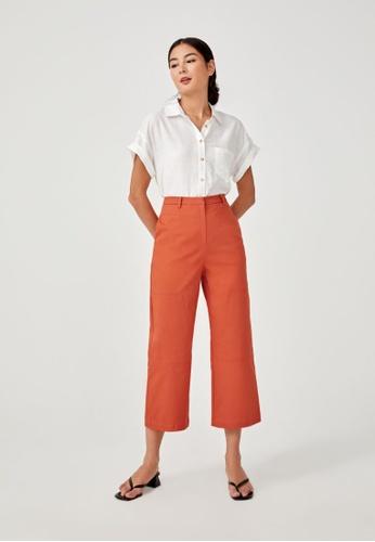 Love, Bonito orange Sariah Tailored Straight Leg Pants 1EB7EAADCFCDC5GS_1