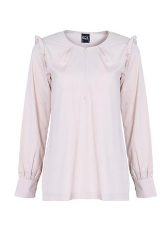 1f44a998fba96a EDZ white and beige EDZ Adele Ruffle Soft Cotton Blouse in Moon Beam Ivory  ED756AA90OMVMY 1