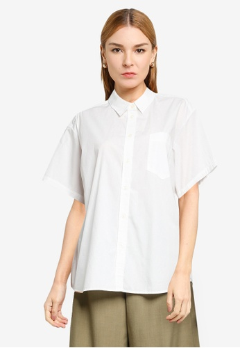 LOWRYS FARM white Short Sleeves Buttoned Shirt 5B694AACCAFE75GS_1