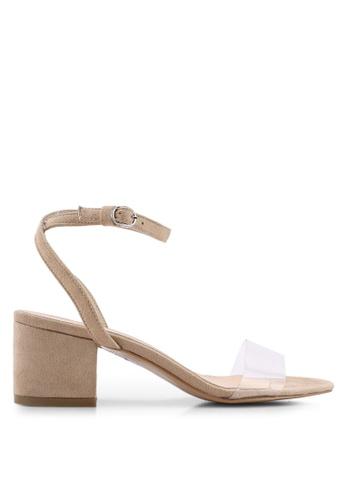 Public Desire 米褐色 繞踝高跟鞋 0972CSH4AD508AGS_1