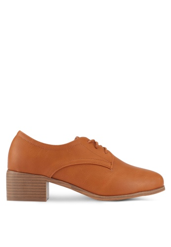 Something Borrowed brown Lace Up Oxfords F1565SHF6BFC50GS_1