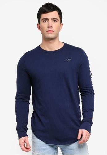 3edd07a44920 Buy Hollister Long Sleeve Printed T-Shirt Online on ZALORA Singapore